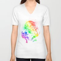 disco V-neck T-shirts featuring Space Disco by Jonah Makes Artstuff