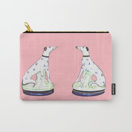 STAFFORDSHIRE GREYHOUND TWINS Carry-All Pouch