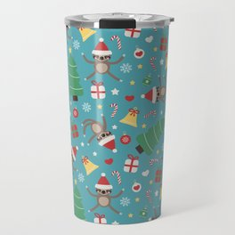 Lazy Sloth Christmas Travel Mug