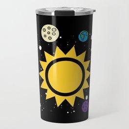 Solar System Planets Sun and Moon Travel Mug