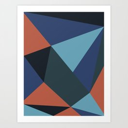 Salmon Geometry Art Print