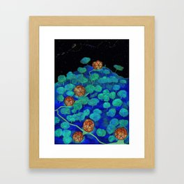 forest shelters Framed Art Print