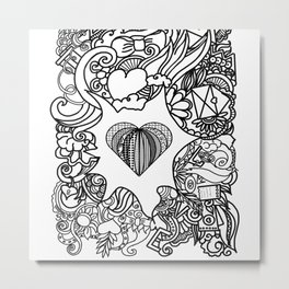 love and doodles Metal Print