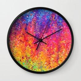 Fluoro Rain Wall Clock