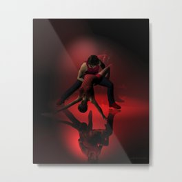 Two Jazz Dancers in Red Metal Print