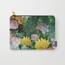 Succulent World Carry-All Pouch