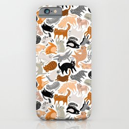 Cats Forever by Veronique de Jong iPhone Case
