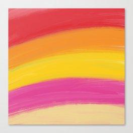 Colourful happy strokes Canvas Print