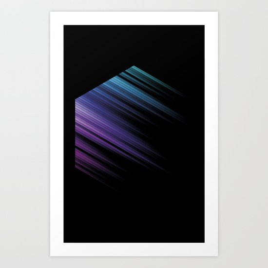 Color Box Black by [PE] Art Print