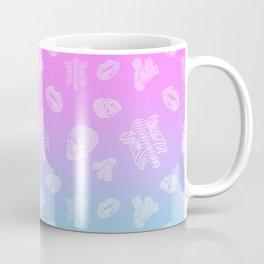 Body Language - pink / blue / light seamless pattern anatomical body parts Coffee Mug