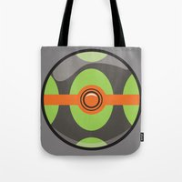 pokeball Tote Bags featuring Dusk Pokeball by Pi Design Prints