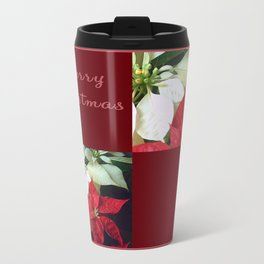 Mixed Color Poinsettias 2 Merry Christmas Q10F1 Travel Mug