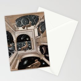 Escher - Another World II Stationery Cards