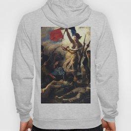 """Eugène Delacroix """"Le 28 Juillet. La Liberté guidant le peuple (Liberty Leading the People)"""" Hoody"""