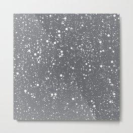 Chaotic circles pattern. Grey. Metal Print