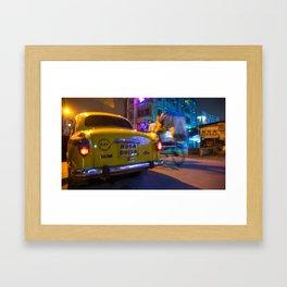 Kolkata Cab Framed Art Print