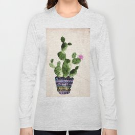 Blooming Cactus Long Sleeve T-shirt