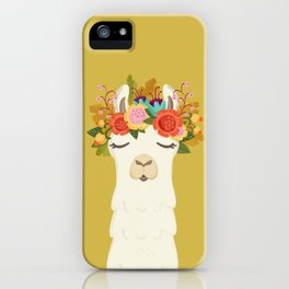 LLama Flowers iPhone Case