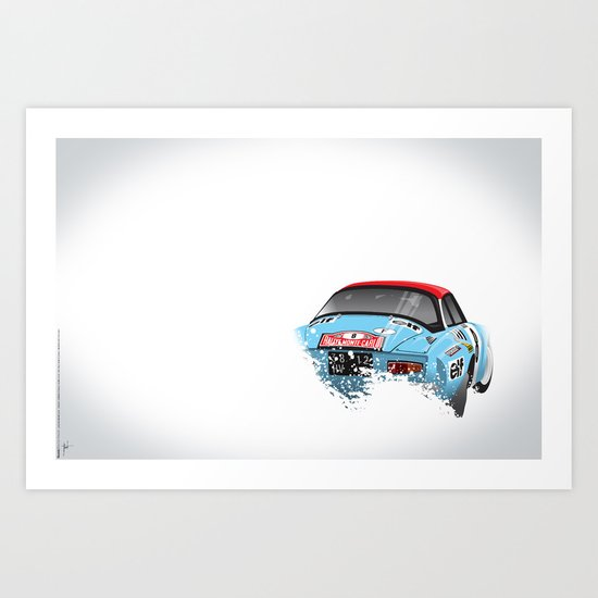 Jean-Pierre Nicolas-Vincent Laverne, Renault Alpine A110, 1975 Rally Monte Carlo Art Print