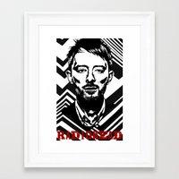 radiohead Framed Art Prints featuring RadioHead by Pan Trinity Das
