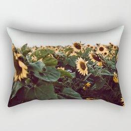 Sunflower field III Rectangular Pillow