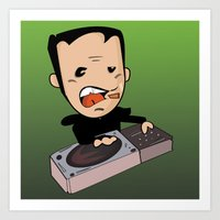 dj Art Prints featuring DJ by Grime Lab