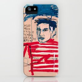 Picasso after Basquiat iPhone Case