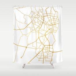 MARACAIBO VENEZUELA CITY STREET MAP ART Shower Curtain