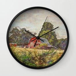 Old Farm Wall Clock