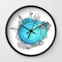 vietnam Wall Clocks featuring Vietnam by Natalie Truong