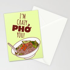I'm Crazy Pho You! Stationery Cards