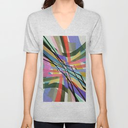 Abstract Composition 631 Unisex V-Neck