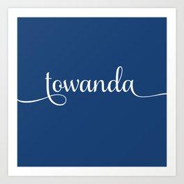 Towanda - french navy Art Print