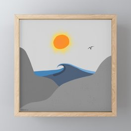 Surf is up, sun is up Framed Mini Art Print