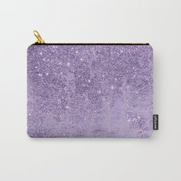 Modern elegant lavender lilac glitter marble Carry-All Pouch