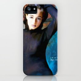 Blue Wall iPhone Case