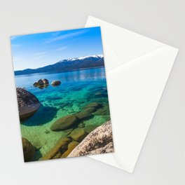 Let's Jump In At Sand Harbor, Lake Tahoe Stationery Cards