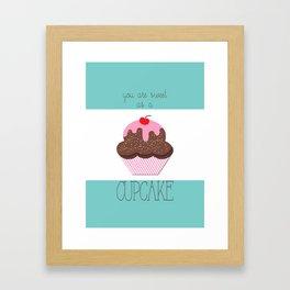 Sweet Cupcake Nothings Chocolate Framed Art Print