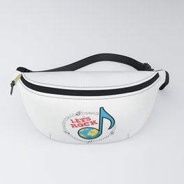 Lets Rock the World Fanny Pack