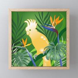 Cockatoo Paradise Framed Mini Art Print