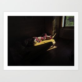 Cozy room in Switzerland, Embd Art Print