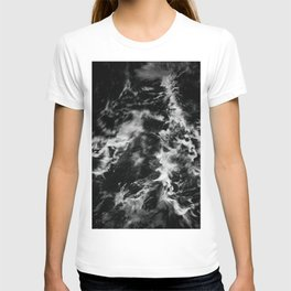 Waves III - Black and White T-shirt