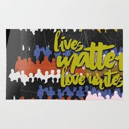 LIVES MATTER, LOVE UNITES Rug
