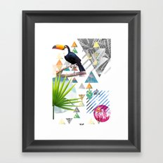 Tropical Mess Framed Art Print