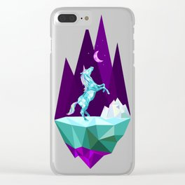 unicorn stand lonely Clear iPhone Case
