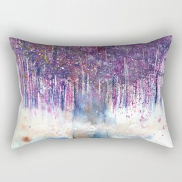 Mystical Tree Illustration Rectangular Pillow