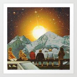 Children of mountain  Art Print
