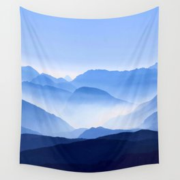 Blue Mountain Horizon Wall Tapestry