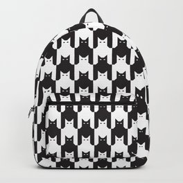 Cats Dog Tooth Pattern Backpack