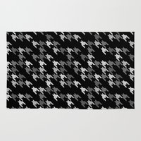 toothless Area & Throw Rugs featuring Toothless Black and White by Project M
